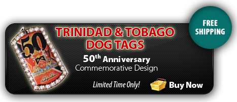 Trinidad 50th Anniversary Dog Tag