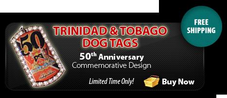 Trinidad 50th Anniversary Dog Tag